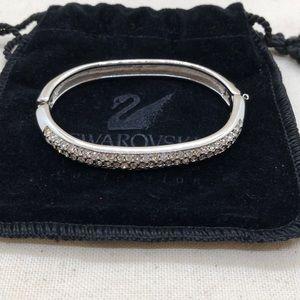 Vintage Swarovski silver tone bangle bracelet